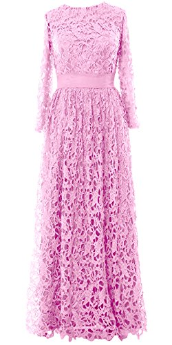 MACloth - Robe - Trapèze - Manches Longues - Femme Rose - Rose