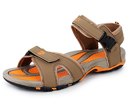 Trase ZRIX Men's Z-Power Brown/Orange Sandals & Floaters-9 IND/UK  available at amazon for Rs.498