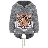 BEZLIT Mädchen Kapuzen Pullover Pulli Wende-Pailletten Sweatshirt Hoodie 21484 Anthrazit Größe 152