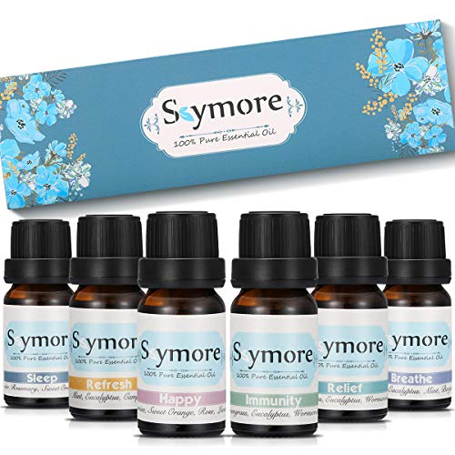Skymore Kit Huiles Essentielles Top 6, Parfait Cadeau Pour la Saint-Valentin, Aromathérapie Humidificateurs Oils, 100% Pures & Naturelles Ingrédients, Therapeutic Grade Essential Oils.