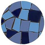 Mosaik Fliesen-Scherben, Bruchmosaik 20-50mm, 2Kg Mix Blau, BMXB