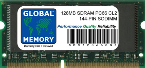 GLOBAL MEMORY 128MB PC66 66MHz 144-PIN Low Profile SDRAM SODIMM ARBEITSSPEICHER RAM FÜR Dell Latitude CPI-A Series NOTEBOOKS -