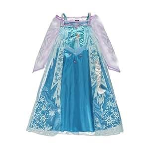 Disney Déguisement pour fillette 3 à 4 ans La reine des neiges Elsa