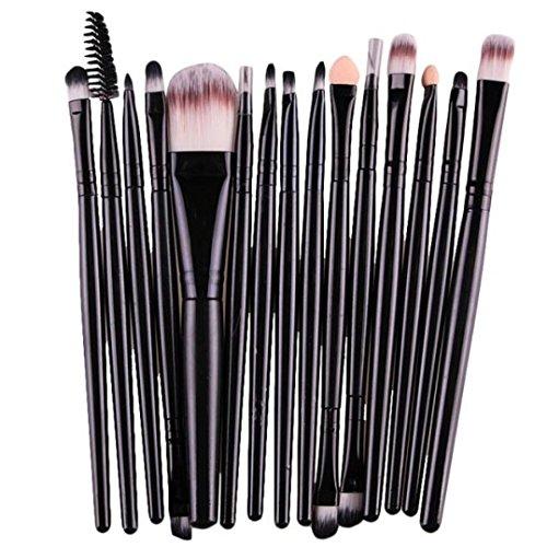 MRULIC15PC Makeup Bürsten Pinsel Schminkpinsel Kosmetikpinsel Make Up Pinsel Kosmetik Set (Schwarz)