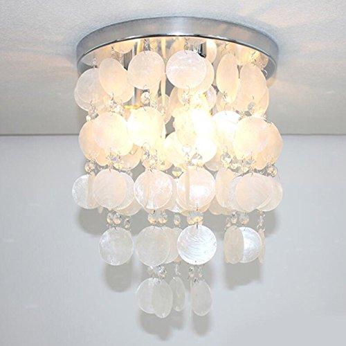 Cristal 6 Licht (EUJEID Moderner Linearer Kronleuchter, American Pastoral Pendelleuchte Nordic Style Bedroom Study Deckenleuchte Dekorative Lichter des Restaurant-Wohnzimmer-LED, White)