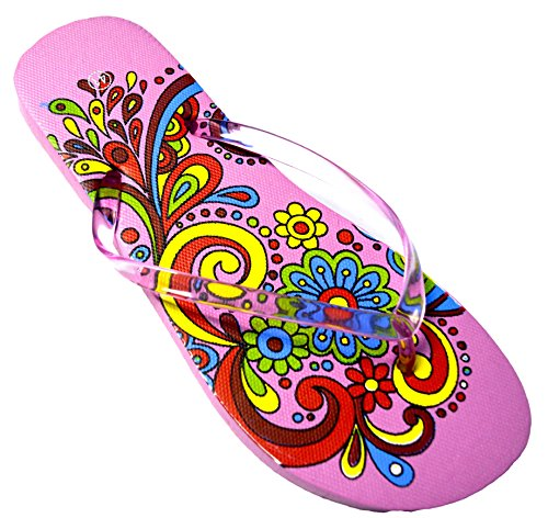 Octave® - Infradito da donna per l'estate e la spiaggia, diversi stili e colori Swirl Design - Light Pink