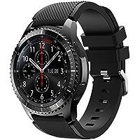 Montres bracelet Covermason Bande de sport Silicone Bracelet sangle pour engins Samsung S3 Frontier (noir)