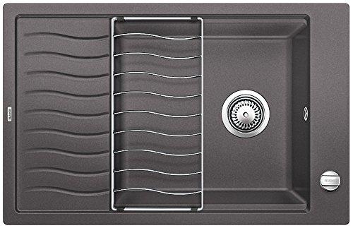 Blanco ELON XL 6 S, Küchenspüle, Granitspüle aus Silgranit PuraDur, 1 Stück, felsgrau, 518736