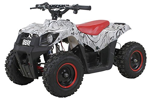 Actionbikes Motors Elektro Kinder Miniquad Tiger EA21 1000 Watt Pocket Quad Kinderquad Kinderfahrzeug ... (Weiß/Rot)