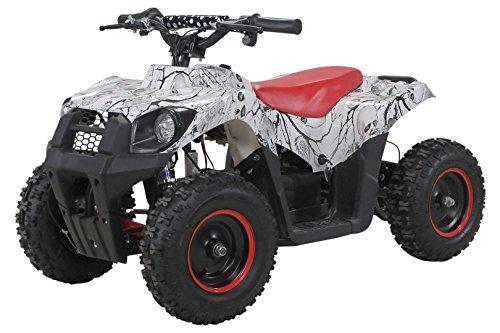 Actionbikes Motors Elektro Kinder Miniquad Tiger EA21 1000 Watt Pocket Quad Kinderquad Kinderfahrzeug … (Weiß/Rot) - Bike 1000w Elektro Pocket