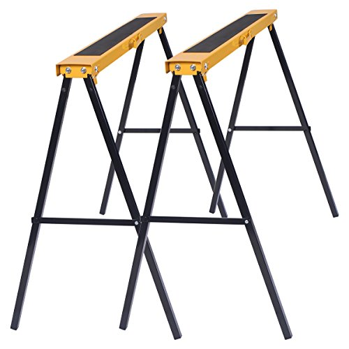 2 x Tréteau pliable portable sciage chevalets support stands métallique 250KG