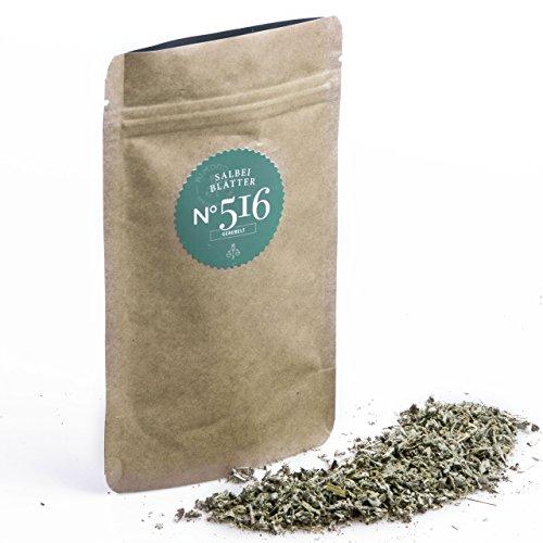 Bio Salbeiblätter N°516 - gerebelt, kräftig & aromatisch, im praktischen Kraftpapier Zip-Beutel, Inhalt: 10g