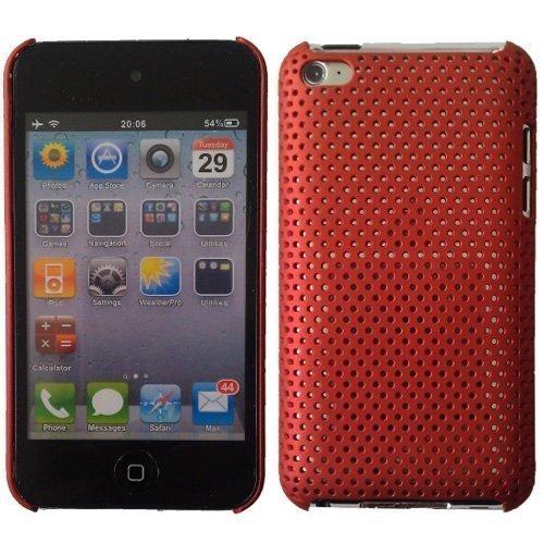 xible Schutzhülle für Apple iPod Touchscreen 4th Generation (8 GB 16 GB 32 GB 64 GB) mit Displayschutzfolie - Rot ()