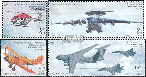 india-2230-2233-completa-edizione-2007-air-force-francobolli-