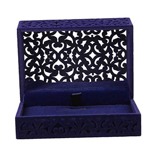 SSCWH Hohl Engagement Hochzeit Schmuck Box Halter Display Geschenk Anhänger Box Schmuck Display