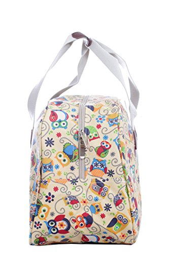 Holiday Weekender, Wachstuch-Handtasche Eule, gestreift Owl-land