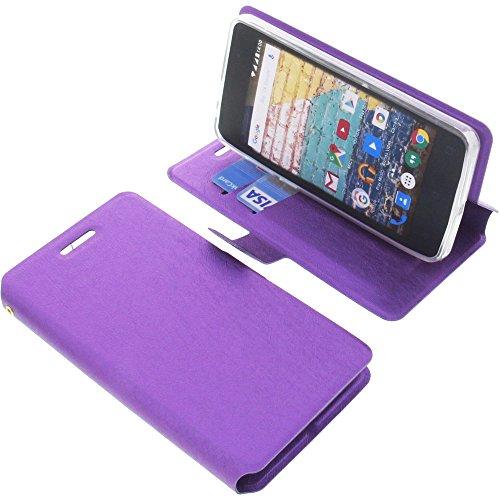 foto-kontor Tasche für Archos 45b Neon Book Style lila Schutz Hülle Buch