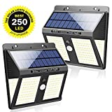 SYOSIN Solar Lights Outdoor, Super Bright 250 LED Motion Sensor Security Lights 270° Wide Angle Waterproof Wireless Solar Powered Lamp Night Lights for Garden, Outdoor/Indoor Wall Light(2 Pack)