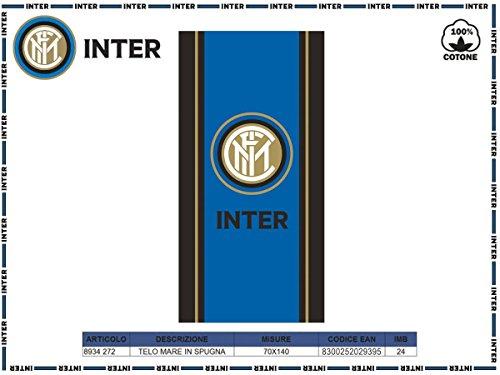 F.c. inter novia telo mare inter 70x140 cm prodotto ufficiale calcio asciugamano in spugna