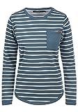 BlendShe Christin Damen Sweatshirt Pullover Sweater Mit Rundhalsausschnitt Und Fleece-Innenseite, Größe:XL, Farbe:Ensign Blue (70260)