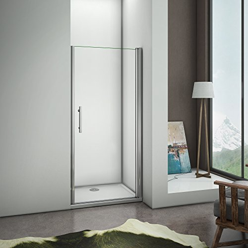 Porte doccia 70x185 per nicchia con apertura a battente verso esterno in cristallo temperato trasparente anticalcare
