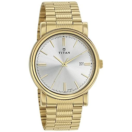 51HgPnChKoL. SS510  - Titan 1712ym02 Mens Golden watch