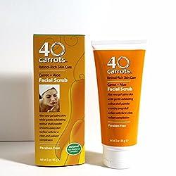 40 Carrots Retinol Rich Carrot + Aloe Facial Scrub - 3 fl. oz. - NIB & Free S&H