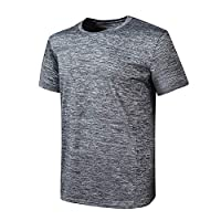 Tjackson Men Fitness Short Sleeve Activewear T-Shirt Fast Drying Breathable Sports Tops