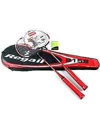 Badminton Raqueta Raqueta De Entrenamiento Ligero con Bolsa De Transporte Raqueta Equipo Deportivo Ideal para Principiantes, Parejas, Partidos, Entrenamiento,Red