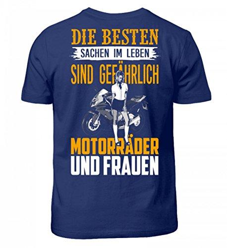 Shirtee Hochwertiges Kinder T-Shirt - Motorrad Shirt · Geschenkidee für Superbike-Fahrer · Biker Aufdruck Motiv/Spruch · Verschiedene Farben Lila Blau