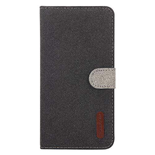 Hülle Kompatible mit Samsung Galaxy A50 Spleißen Muster HandyHülle Leder Wallet Flipcase Tasche Schutzhülle Brieftasche Flipcover Ständer Magnetverschluss Kartenfach Handytasche Ledertasche schwarz -