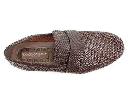 CA6552AC14380051 Dolce&Gabbana Mocassins Homme Cuir Marron clair Marron Clair