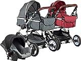 ib style SOLE 3en 1 poussette combiné | incl. siège auto/nacelle bébé| 0-15kg |2...