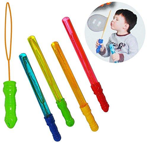 Seifenblasenschwert - 37 cm - NEON Farben - für große XL Seifenblasen - incl. Flasche - für Kinder großer Ringe / große Blasen Bubbel Schwert - Seife.. ()