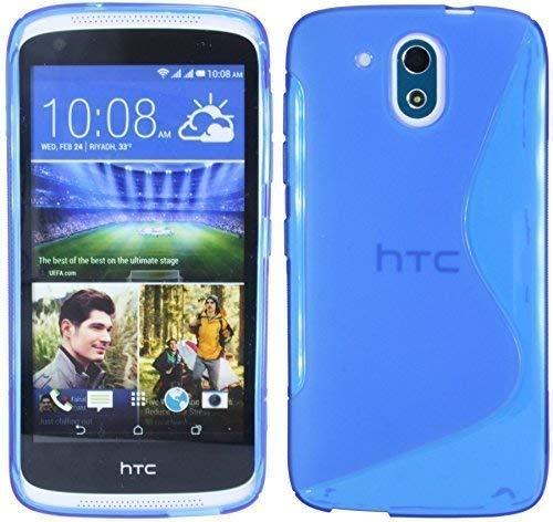 HTC Desire 526G Silikon Hülle Tasche Case Gummi Schutzhülle Zubehör in Blau @ Energmix