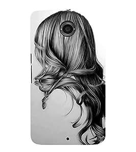 Girl with Gorgeous Hair 3D Hard Polycarbonate Designer Back Case Cover for Motorola Nexus 6 :: Motorola Nexus X :: Motorola Moto X Pro :: Motorola Google Nexus 6