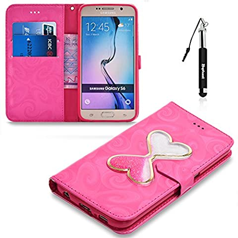 For Samsung Galaxy S6 Case, PU Leather Case for Galaxy