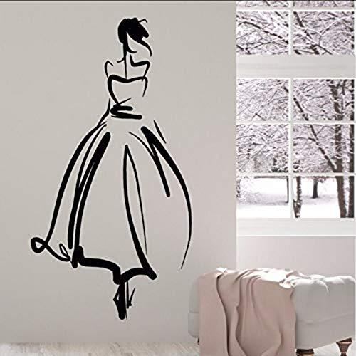 ame Aufkleber Hochzeitssalon Braut Wandkunstwand Hochzeit Shop Dekoration 42 * 78 cm ()