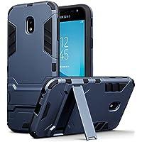 Coque Galaxy J3 2017, Terrapin Double Couche Étui Rigide avec Fonction Stand pour Samsung Galaxy J3 2017 (Version J330F) Étui - Bleu Foncé