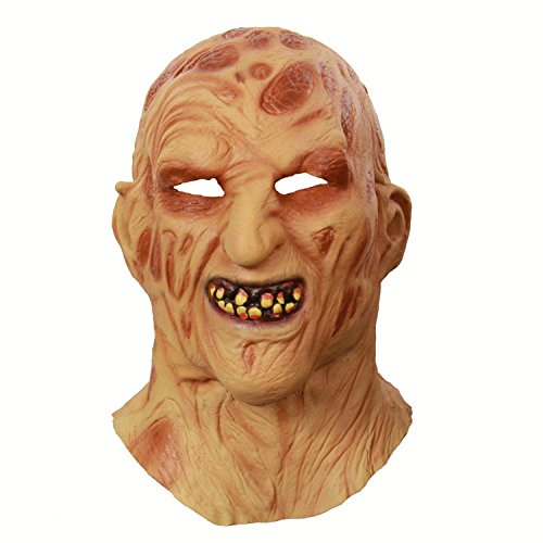 ess Zombie Mumie Feuergesicht Stinkend Halloween Room Escape Spukhaus Prop Scary Latex Zombie Geistermaske D ()
