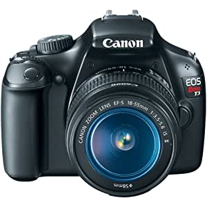 Canon EOS Rebel T3 18.55 IS II 12 MP Digital SLR Camera with 12.2MP CMOS Sensor and DIGIC 4 lmaging Processor