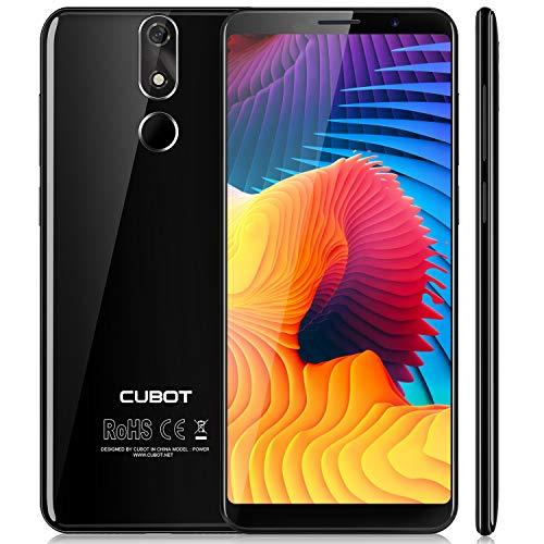 Cubot Power 4G-LTE Dual SIM Smartphone ohne Vertrag, 5.99 Zoll (18: 9) FHD+ Touch Display mit 6000mAh Akku, 6GB Ram+128GB Rom, 20MP Hauptkamera/13MP Frontkamera, Android 8.1 2.5GHz Octa-Core, Schwarz