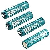 Olight® 14500 Akkus Li-Ion wiederaufladbare Batterien 3.7V 750mAh - 4er-Pack (original und geschützt)