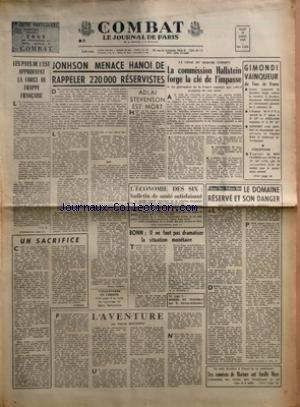 COMBAT [No 6551] du 15/07/1965 - LES PAY...