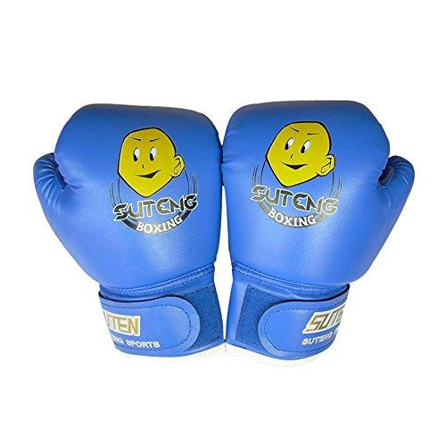 Nicololfle Kinder Boxhandschuhe 4 Unze Kinder Cartoon Sparring Boxhandschuhe Ausbildung Mitts Junior Punch PU Leder Alter 3-12 Jahre