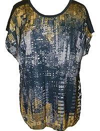 Gerry Weber Damen Blusen-Shirt Gr. 44 (42) // 860016-74004 // mehrfarbig (8048)