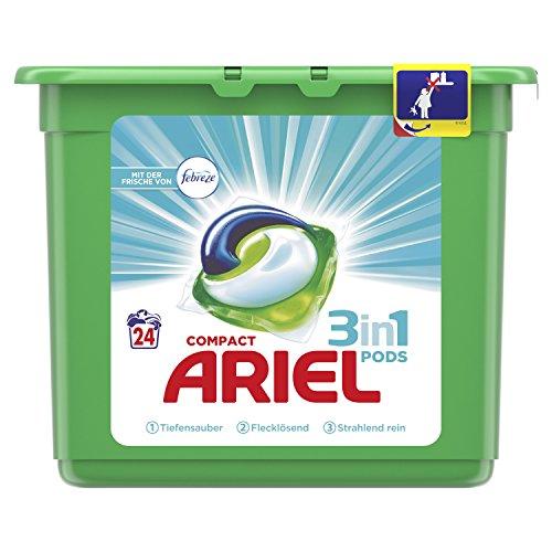 Ariel 3in1 Pods Vollwaschmittel (mit Febreze), 1er Pack (1 x 24 Waschladungen)