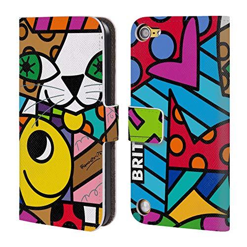 Head Case Designs Offizielle Britto Sam Und Gelb Abstrakte Abbildungen 2 Leder Brieftaschen Huelle kompatibel mit Touch 5th Gen/Touch 6th Gen 16 Gb Ipod Touch