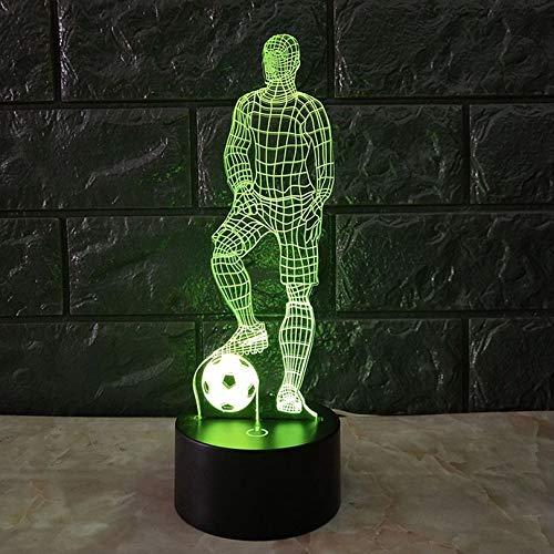 Lustige 3D Fußball-Touch-Tischlampe 7 Farben, die Schreibtischlampe USB Powered Nachttischlampe Fußball LED-Licht für Schlafzimmer - Fußball-led-licht