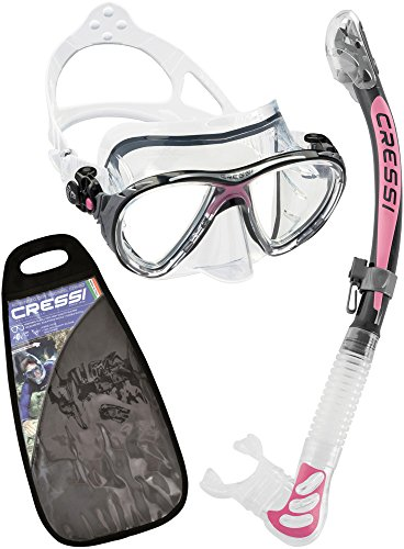 Cressi Unisex Tauchset Big Eyes Evolution and Alpha Ultra Dry, klar/rosa, one size, WDS337040